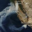 NASA показало снимки пожара в Калифорнии