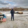 В Бобруйске ребенок провалился под лед и погиб