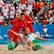 Сборная Беларуси победила команду Португалии во втором групповом этапе ЧМ по пляжному футболу