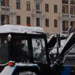Сильный снегопад накрыл Минск