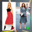 Самый спорный принт: как правильно носить клетчатую юбку? 3 эффективных совета