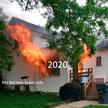 Кошка выпрыгивала из горящего дома и стала новым героем для мемов