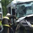 Микроавтобус влетел в грузовик в Воложинском районе: семь человек в больнице