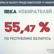 ЦИК: явка избирателей на парламентских выборах на 14:00 по стране составила 55.47 %