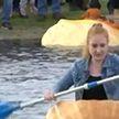 Заплыв в гигантских тыквах устроили в Германии