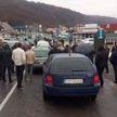 Украинские владельцы машин с еврономерами блокируют пункты пропуска на западной границе страны