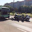 Volkswagen врезался во встречный троллейбус в Минске: женщина-водитель умерла в больнице