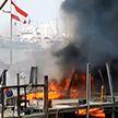 В порту Бейрута вновь вспыхнул мощный пожар