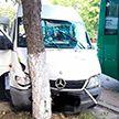 Маршрутное такси протаранило дерево в Барановичах: пострадали пять пассажиров