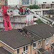 В Лондоне на дом упал строительный кран: один человек погиб