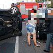 Водитель протаранила четыре автомобиля в Минске