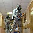 Военные провели дезинфекцию 6-й городской клинической больницы