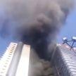 В деловом центре Китая вспыхнул крупный пожар