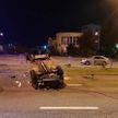 В Минске вечером на ул.Матусевича перевернулся автомобиль