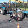 ДТП в Брагинском районе: мотоциклист попал под трактор и выжил