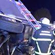 Автобус с пассажирами вылетел с трассы, пробил ограждение и перевернулся около Гамбурга