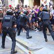 Серьёзные стычки каталонских сепаратистов с полицией произошли на улицах Барселоны