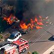 Небольшой самолет упал на севере Лос-Анджелеса