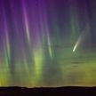 Полярное сияние и комету одновременно наблюдали в США и Канаде (ВИДЕО)