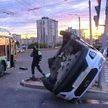 Авария на улице Горецкого в Минске с участием троллейбуса и Hyundai (ВИДЕО АВАРИИ)