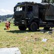 Грузовик с военными перевернулся в Швейцарии: два человека серьёзно пострадали