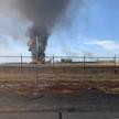 Самолет вспыхнул и сгорел на взлетно-посадочной полосе аэропорта в Калифорнии