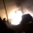 Ночью в Орше на парковке возле дома загорелся автомобиль