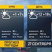 Без осадков и до +18°С: прогноз погоды на 27 сентября