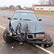 Под Могилевом трое подростков угнали BMW и разбили его об остановку