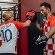 Президент Хорватии потренировалась с чемпионом UFC
