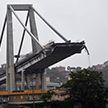 Момент обрушения моста в Генуе попал на видео