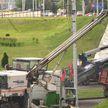 Ремонт путепровода начался на пересечении проспекта Победителей и улицы Орловской в Минске
