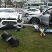 Серьезное ДТП на проспекте Победителей: опрокинулся автомобиль