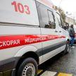 Автомобиль скорой помощи загорелся в Жодино: водитель получил  ожоги