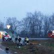 В Слуцком районе «Ситроен» столкнулся с автобусом с детьми
