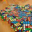 «IQ в кубе»: могилёвские школьники собирают потрясающие картины из кубиков Рубика