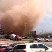 Огромный пыльный вихрь сняли на камеру жители Мексики