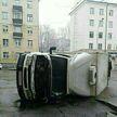ДТП в Минске: грузовик перевернулся на Долгобродской